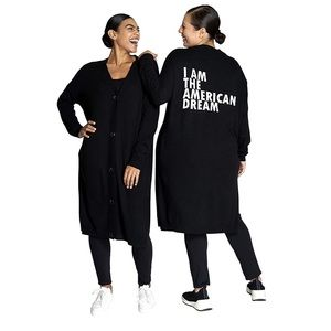 Dubgee by Whoopi American Dream Black Cardigan